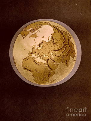 Earth From Space 1872 Art Print by Padre Art