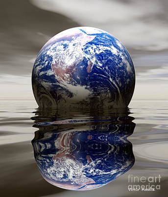 Flooding Digital Art - Earth by Victor Habbick Visions and Photo Researchers