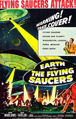 Fid Photograph - Earth Vs. The Flying Saucers, 1956 by Everett