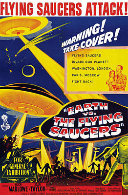 Earth Vs. The Flying Saucers, Joan Art Print by Everett