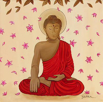 Painting - Earth Witness Buddha by Sabina Espinet