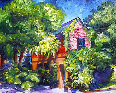 Charleston Houses Painting - East Bay House In Charleston  by James Christopher Hill
