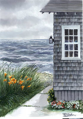Cape Cod Painting - East Chop Storm by Paul Gardner