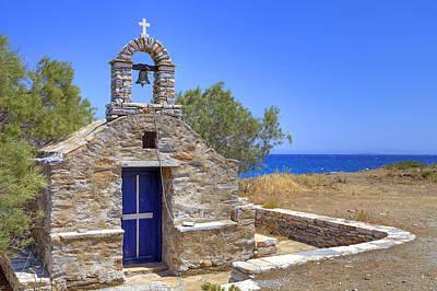 Little Chapel Photograph - east coast Naxos by Joana Kruse