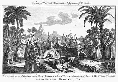Photograph - East Indian Funeral by Granger