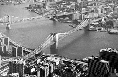 Photograph - East River Bridges New York by Gary Eason