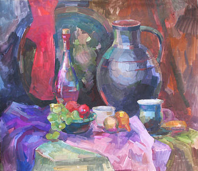 Painting - East Still Life With A Jug by Juliya Zhukova
