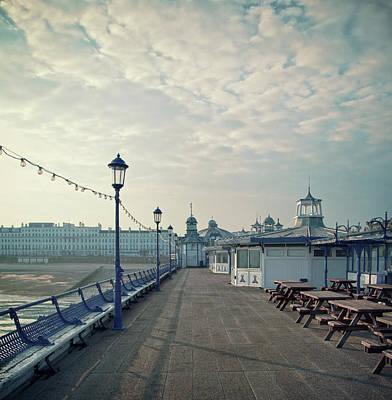Eastbourne Photograph - Eastbourne Pier Promenade by Paul Grand Image