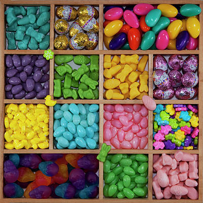 Multi Colored Photograph - Easter Candies by Lisa Stokes
