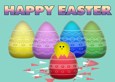 Happy Easter Digital Art - Easter Card by Anthony Caruso