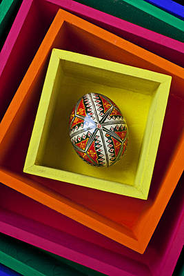 Easter Egg In Box Art Print by Garry Gay