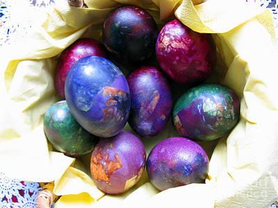 Handmade Book Photograph - Easter Eggs 01 by Ausra Huntington nee Paulauskaite