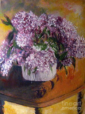 Painting - Easter Lilacs by Tina Swindell