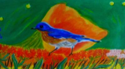 Eastern Bluebird Art Print by Annette Stovall
