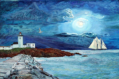 Painting - Eastern Point Light by Laurence Dahlmer