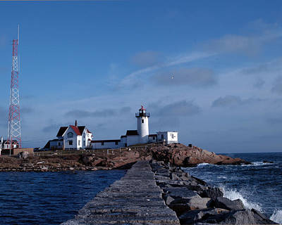 Eastern Point Light Art Print by Mike Martin