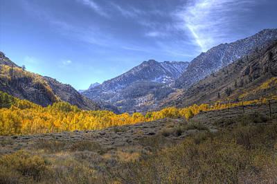 Eastern Sierras In Fall Art Print by Michele Cornelius