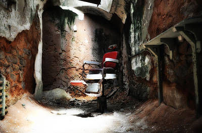 Eastern State Prison Wall Art - Photograph - Eastern State Penitentiary - Barber's Chair by Bill Cannon