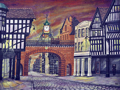 Eastgate Clock - Chester Art Print by Ronald Haber