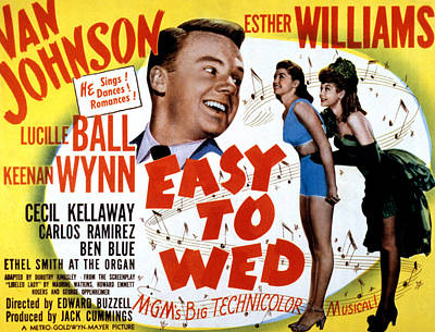 Easy To Wed, Van Johnson, Esther Art Print