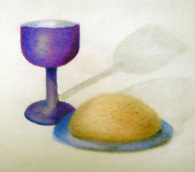Communion Drawing - Eat And Drink by Linda Pope