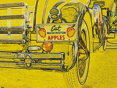 Eat Washington Apples Art Print by Anne Mott
