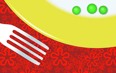 Eat Your Peas Art Print by Richard Rizzo