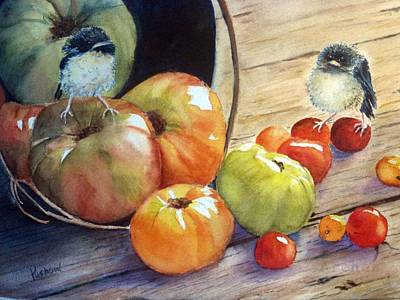 Blackcap Painting - Eat Your Veggies by Patricia Pushaw
