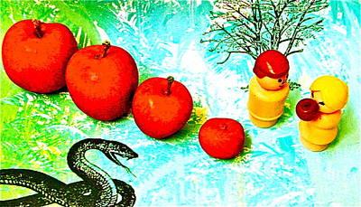 Eating Apples Art Print by Ricky Sencion