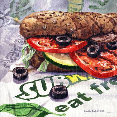 Painting - Eating Fresh by Lynette Cook