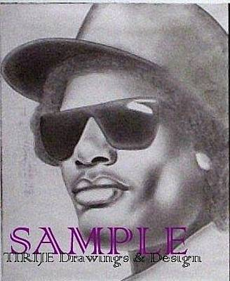 Tattoo Stencils Drawing - Eazy E by Rick Hill