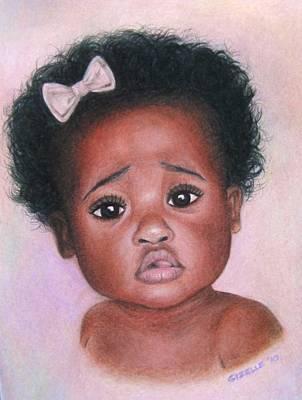 Gizelle Perez Drawing - Ebony Baby by Gizelle Perez