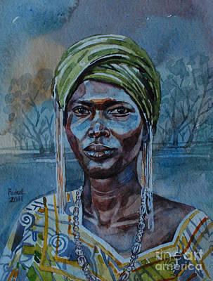 Ebony Girl Print by Mohamed Fadul