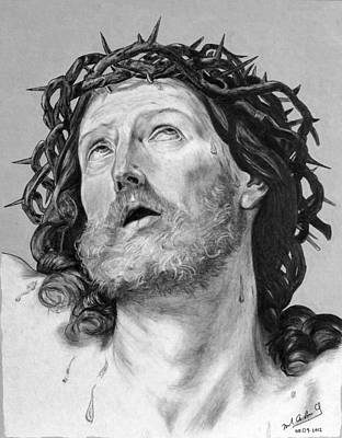 Drawing - Ecce Homo by Miguel Rodriguez