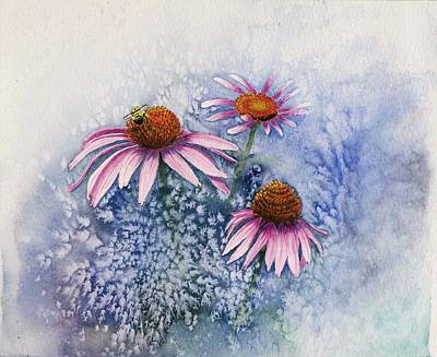 Daiseys Painting - Echinacea by Deborah Brown Maher