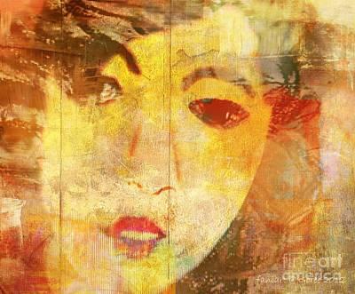 Missing Mixed Media - Echinacea by Fania Simon