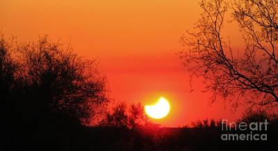 Arizona Photograph - Eclipse In Arizona Sunset by Michelle Cassella