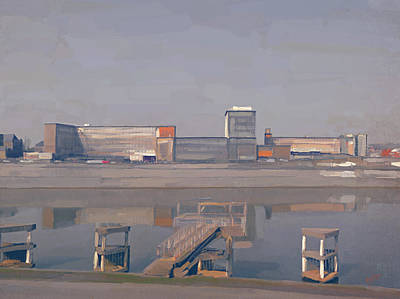 Meuse Painting - Ecole Polytechnique Herstal by Nop Briex