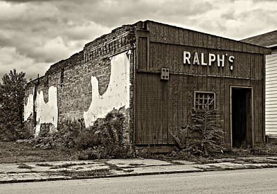 Pennsylvania Photograph - Economics 101...dreams Die Sepia by Steve Harrington