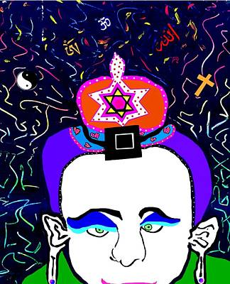 Digital Art - Ecumenical Man by Eliezer Sobel
