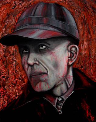 Badass Painting - Ed Gein by Justin Coffman