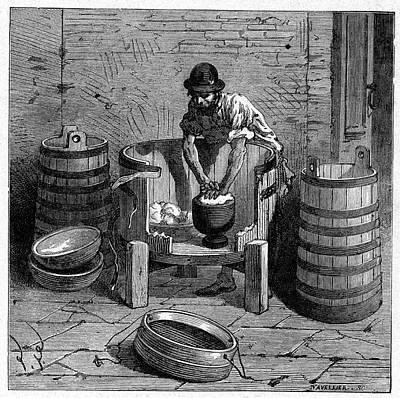 Edam Production, 19th Century Art Print by Cci Archives