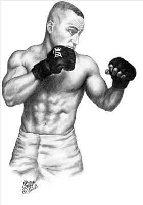 Alvarez Drawing - Eddie Alvarez - Bellator Champion by Audrey Snead