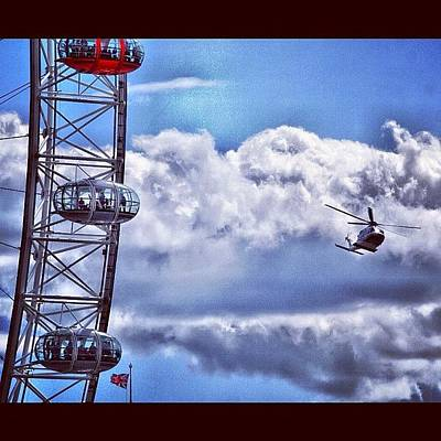 Helicopter Photograph - Edf London Eye : Helicopter #iglondon by Neil Andrews
