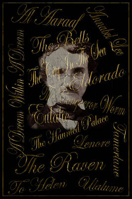 Photograph - Edgar Allan Poe 1 by Andrew Fare