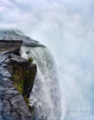 Ledge Photograph - Edge Of Niagara Falls by Jill Battaglia