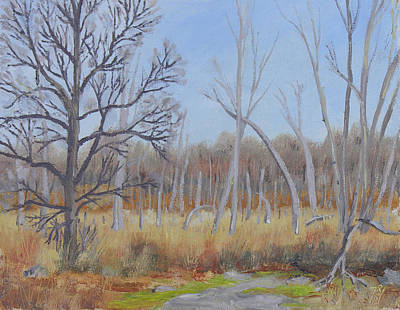 Nature Center Painting - Edge Of The Marsh by Robert P Hedden