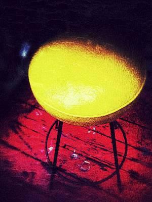 Stool Digital Art - Edge Of The Seat by Olivier Calas