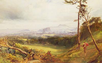 Mist Painting - Edinburgh From Corstorphine  by John MacWhirter