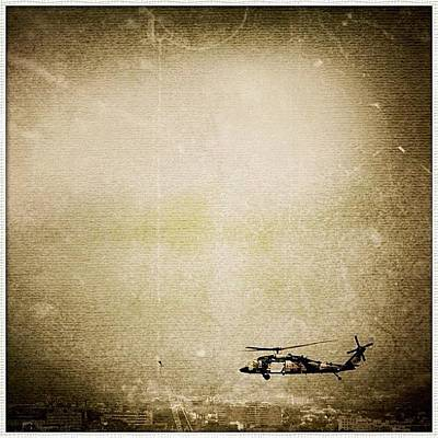 Helicopter Photograph - Edited On Godfather With Lemeleme #sky by Luke Fuda
